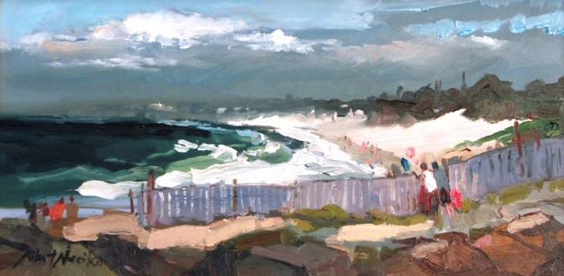 Afternoon performance, seaside oil painting by Robert Noreika