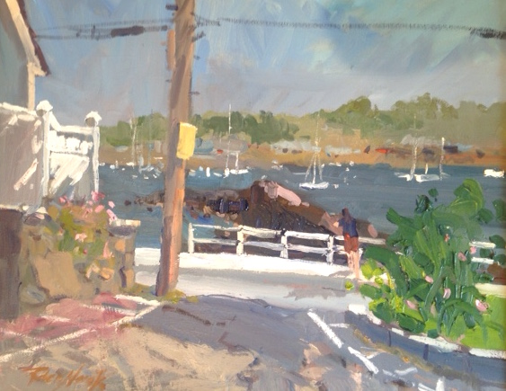 Little Island View -Marblehead MA oil painting by Robert Noreika