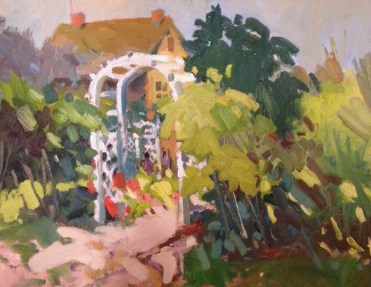 Trellis, oil painting by Robert Noreika