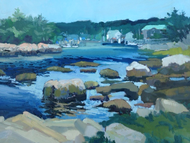 Low Tide at Weakapaugh RI, oil painting by Robert Noreika